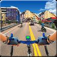 In Bicycle Racing on Highway - Bike Rider Game
