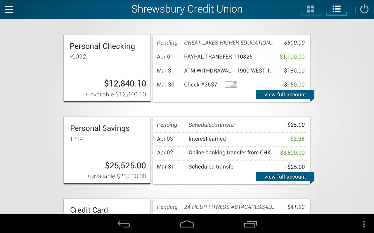Shrewsbury Credit Union- screenshot