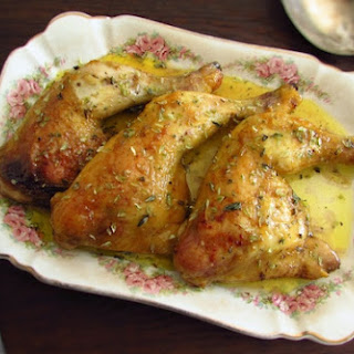 Chicken Legs In The Oven With Mustard.