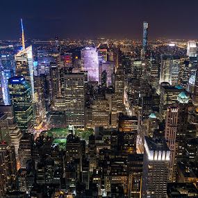 New York - Manhattan by Ty Yang - Buildings & Architecture Other Exteriors ( manhanttan, empire state building, cityscape, new york city, new york, nightscape )