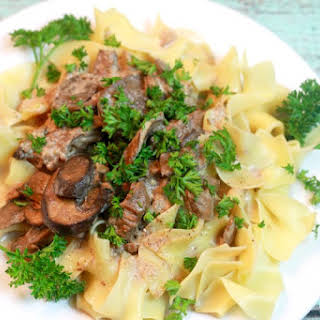 Crock Pot Beef Stroganoff (Lightened Up).