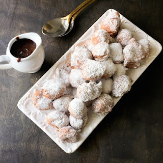 Mexican Beignets with a Chocolate Dipping Sauce.