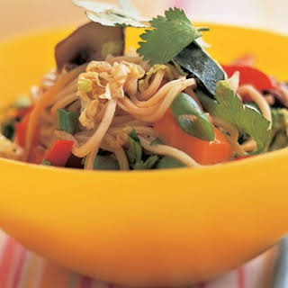 Vegetable Stir-fry With Egg Noodles And Tofu.