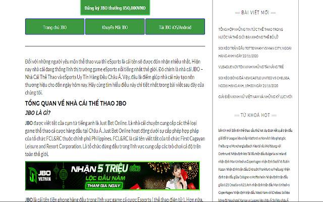 Nhà cái JBO giao dịch nhanh chóng - jbo.vn