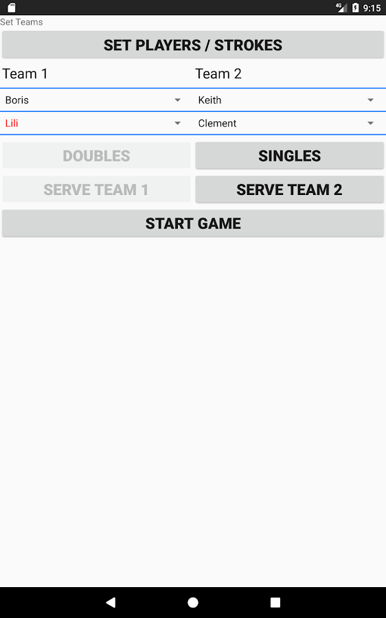 Badminton Score and Statistics- screenshot