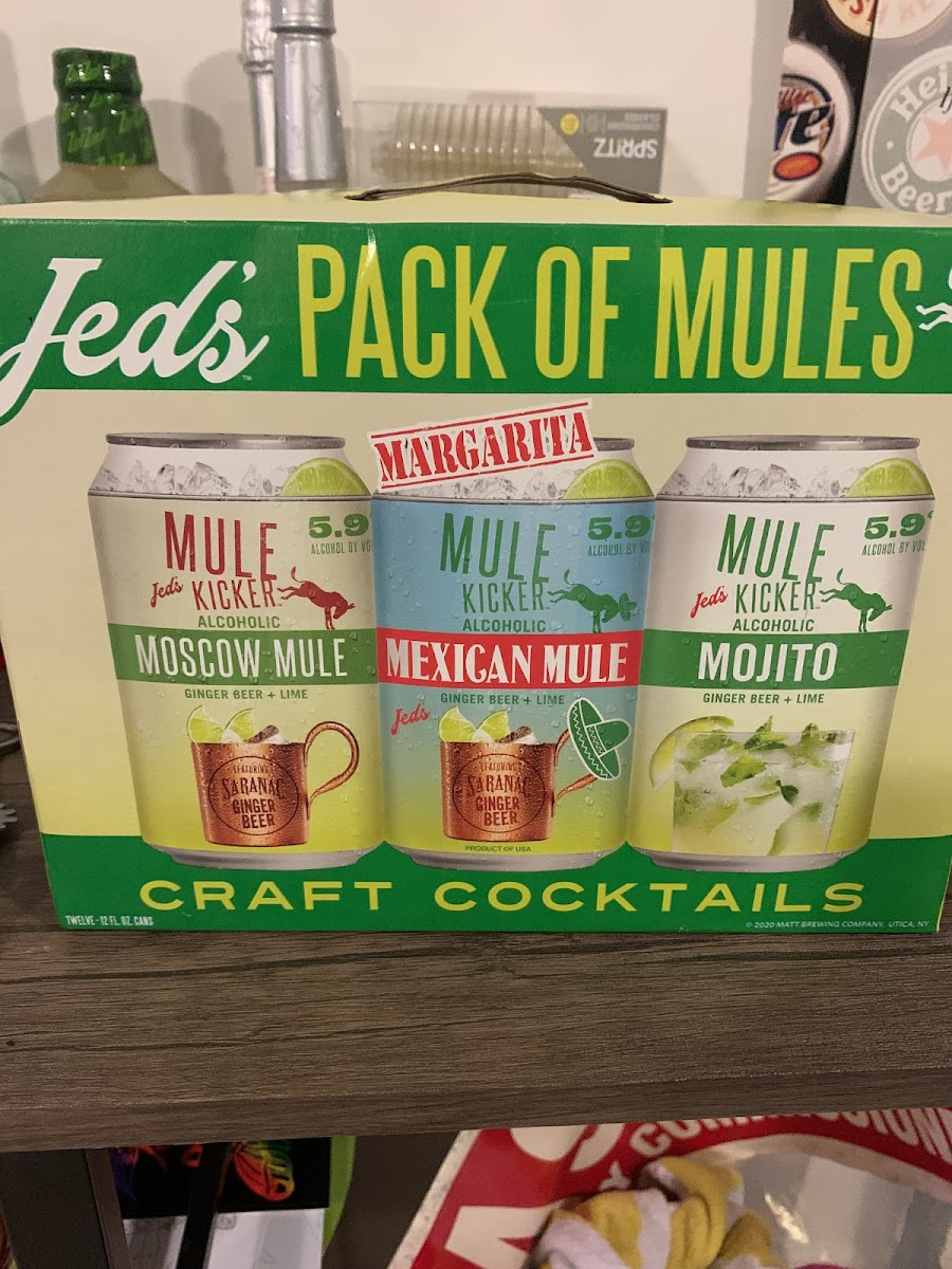 Jeds Pack Of Mules Craft Cocktails