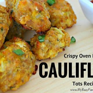 Oven Crispy Baked Cauliflower Tots