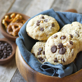 Dark Chocolate Chunk and Salted Pretzel Cookies