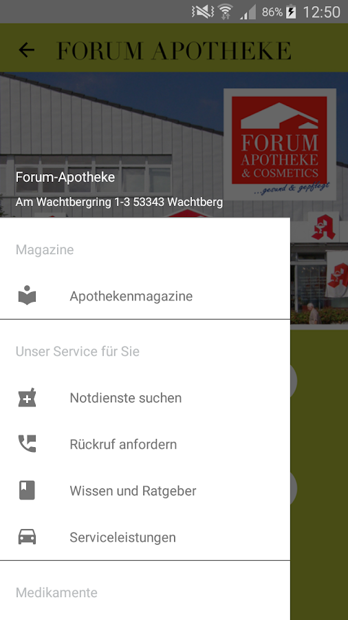 Forum Apotheke- screenshot