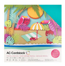 American Crafts Textured Cardstock Pack 12X12 60/Pkg - Tropical