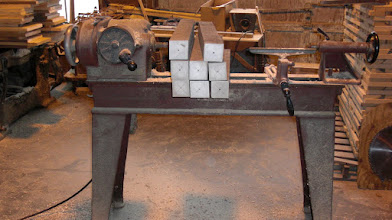 """Photo: Process starts with 3""""x3"""" oak or maple stock..."""