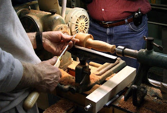 Photo: Putting on a finishing touch. This mallet felt great in the hand.