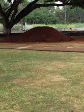 Photo: One pile of dirt left; if the weather holds up, it'll probably be gone by tomorrow.