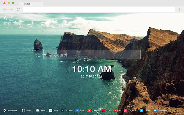 Waterfront New Tab HD Wallpapers Theme