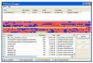 Defragmentation software
