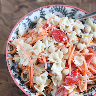Ceasar Pasta Salad with Chickpeas.