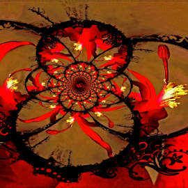 gothic influence by Kittie Groenewald - Digital Art Abstract ( red, gothic, creative art, abstract )