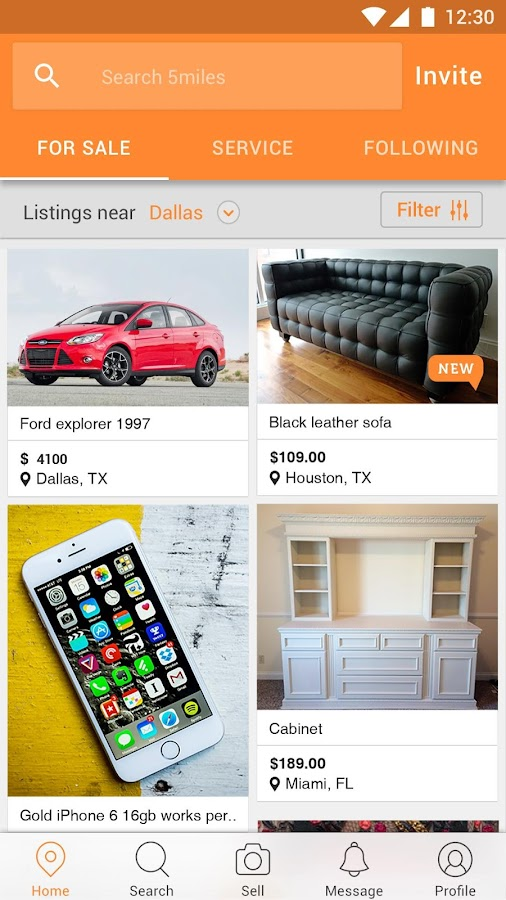 5miles local buy sell stuff android apps on google play for How to sell stuff from home