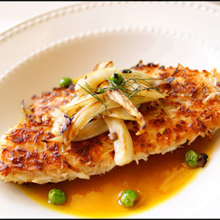 The Challenge – Coconut Crusted Tilapia with Pineapple/Curry sauce