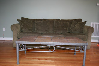 Photo: $300 Crate and Barrel couch (6' long) +$50Tile Coffee Table