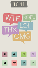 Photo: The Internet slang #android #homescreen. It's cheerful yet simple.