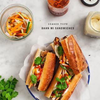 Seared Tofu Banh Mi Sandwiches.