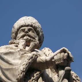 Statue-close up by Cristina Andrei - Buildings & Architecture Statues & Monuments ( sculpture, bucharest, statue, mihail cantacuzino, coltea, coltea hospital )
