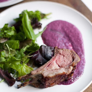 Roasted Rack of Lamb with Blueberry Sauce