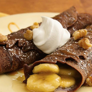 Banana-Filled Caramel-Chocolate Crepes
