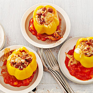 Chili Bean-Stuffed Peppers