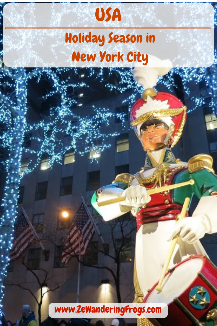 USA Holiday Season in New York City // Holiday Decorations in Rockefeller Center