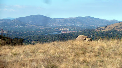 Photo: View back over Tuggeranong from the rocks