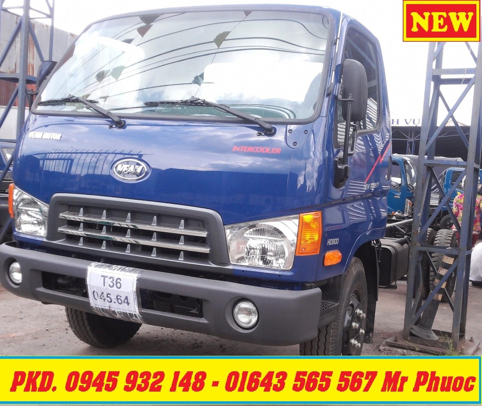 xe tải VEAM HYUNDAI 8 tấn thùng mui bạt 2016 giao xe ngay, xe VEAM HD800 8 tấn có máy lạnh