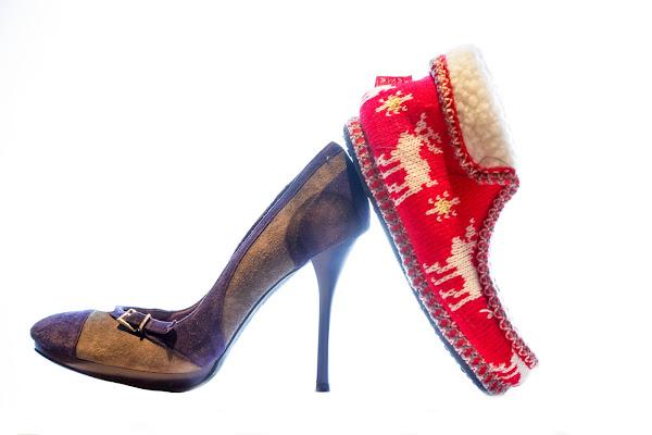 Una scarpa e una ciabatta di Welj