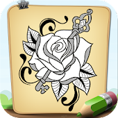 How To Draw Floral Tattoo