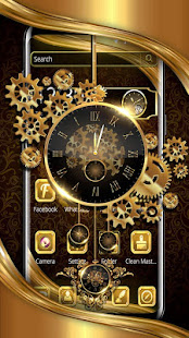 Luxury Golden Clock Theme