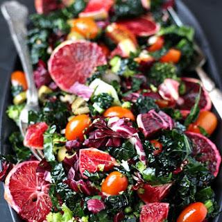 Winter Retreat Blood Orange Kale Salad.