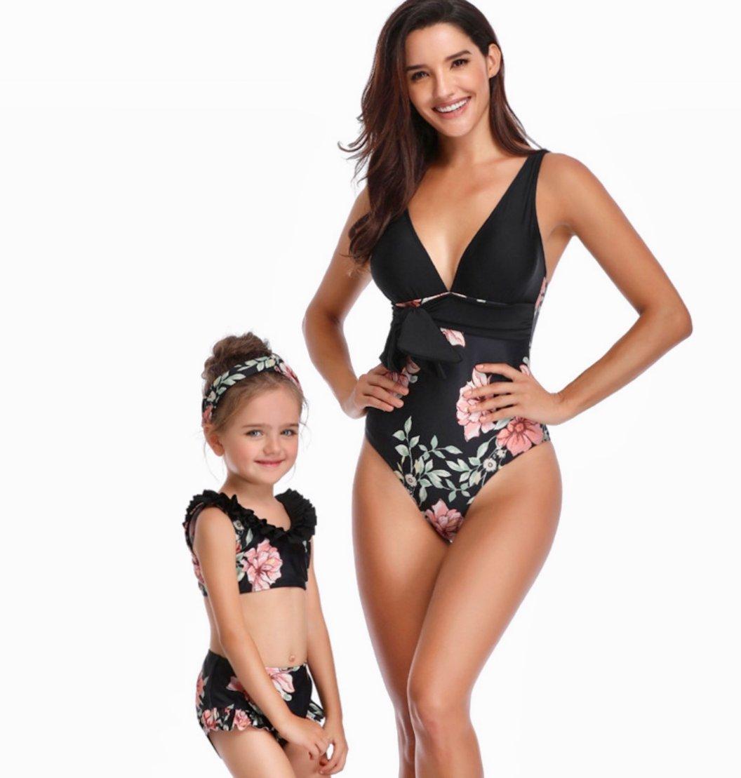 Mother-Daughter Twinning Swimwear