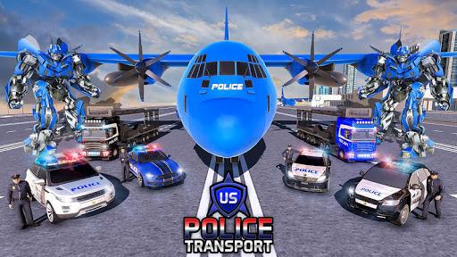NOUS Police Transformed Robot - Police Avion  captures d'u00e9cran 4