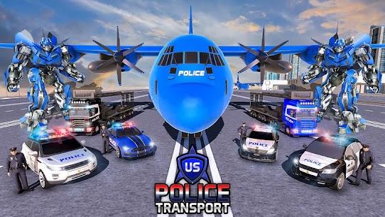 US Police Robot Transform – Police Plane Transport 4