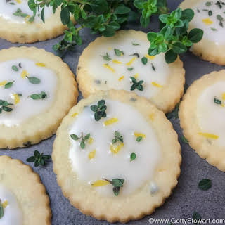 Lemon Thyme Cookies with Lemony Icing.