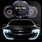 Live Wallpaper - Cars & Digital Clock theme icon