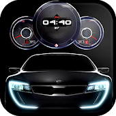 Cars Clock Live Wallpaper