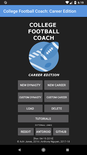 College Football Coach: Career Edition v1.2.20 {cheat|hack|gameplay|apk mod|resources generator} 1