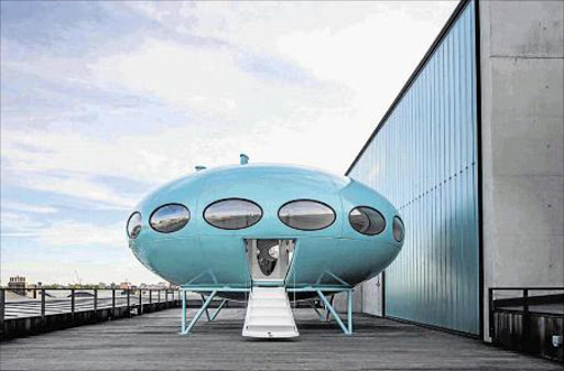 NEW LEASE OF LIFE: The restored alien spaceship Futuro house now in a London galler