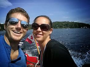 Photo: Mark and Eva on Lac de Sables