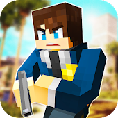 LA Police Craft: Block Cop & Robbers Action Games
