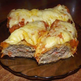 Rolls Of Pita Bread With Meat.
