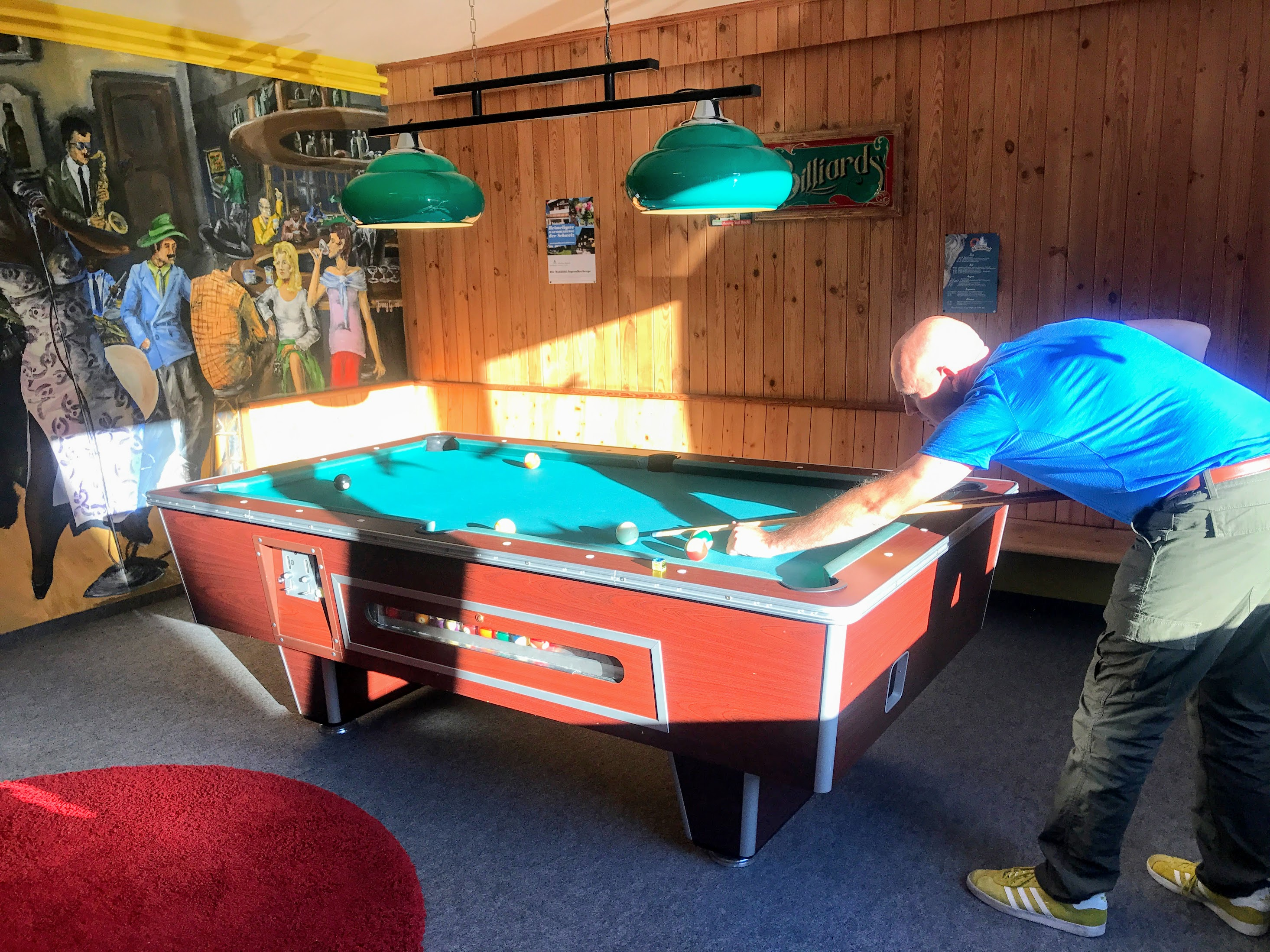 Klosters hostel game room