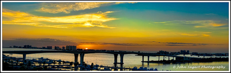 Photo: Clearwater Memorial Bridge at Sunset